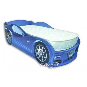Кровать машина MebelKon Jaguar Голубая