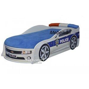 Кровать машина  MebelKon Camaro Полиция Белая