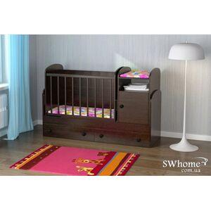 Детская кроватка-трансформер Oris Marica Сосна лоредо темный