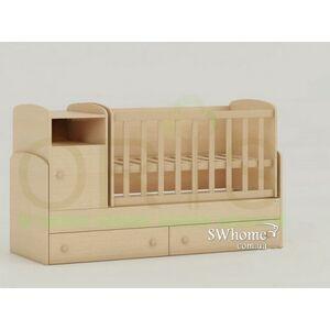Детская кроватка-трансформер Oris Marica Сосна лоредо светлая
