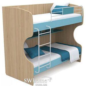 Двухъярусная кровать Бриз Акварели Кв - 12 Бирюзовая
