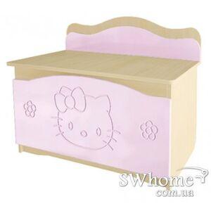 Ящик для игрушек Вальтер Kiddy Венге светлый - розовый