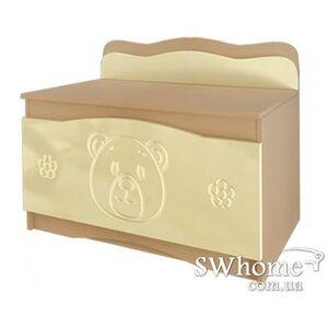 Ящик для игрушек Вальтер Мишка Венге светлый - ваниль