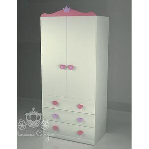 Шкаф двухстворчатый с ящиками Поляна сказок Золушка Pink