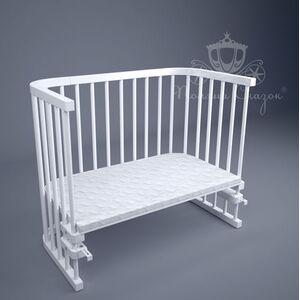 Приставная кроватка Поляна сказок Multi-bed Premium макси Белая