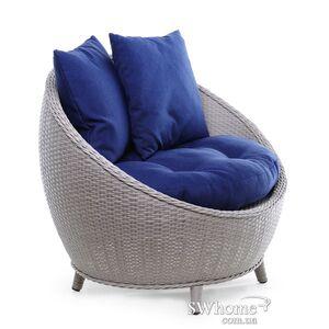 Кресло из ротанга Pradex Киви Серое
