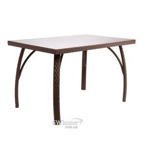 Стол из ротанга Pradex Палермо прямоугольный Темно-коричневый