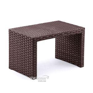 Стол из ротанга Pradex Аризона-М Темно-коричневый