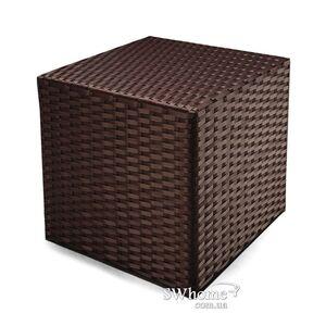 Пуф из ротанга Pradex Куб Темно-коричневый
