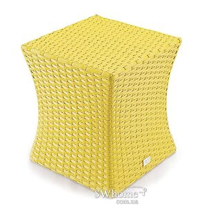 Пуф из ротанга Pradex Итака Желтый