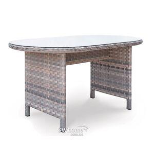 Стол из ротанга Pradex Глория радиусный Серый