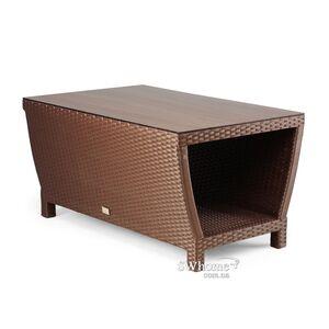 Стол из ротанга Pradex Парадиз прямоугольный Темно-коричневый