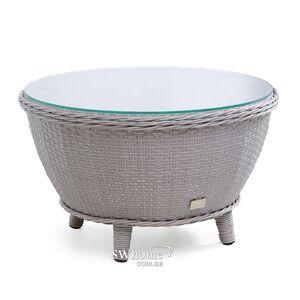 Стол из ротанга Pradex Киви круглый Серый