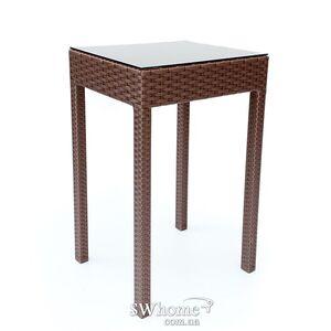 Стол из ротанга Pradex Барный квадратный Темно-коричневый