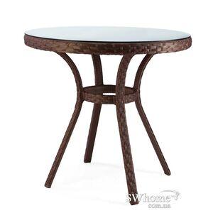 Стол из ротанга Pradex Блюз круглый Темно-коричневый