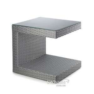 Стол из ротанга Pradex Гранд С квадратный Серый