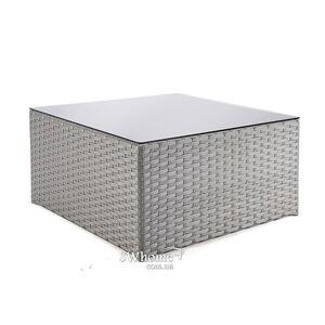 Стол из ротанга Pradex Гранд куб Серый
