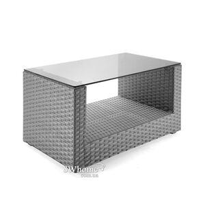 Стол из ротанга Pradex Гранд U прямоугольный Серый