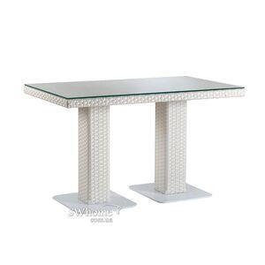 Стол из ротанга Pradex Мартин прямоугольный Белый