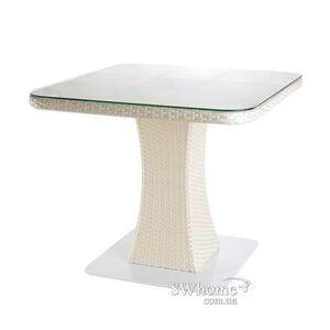 Стол из ротанга Pradex Неаполь Белый