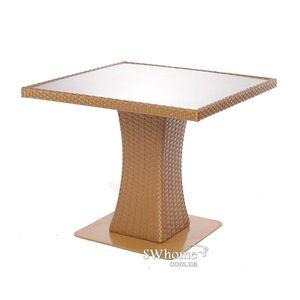 Стол из ротанга Pradex Неаполь-М квадратный Бежевый