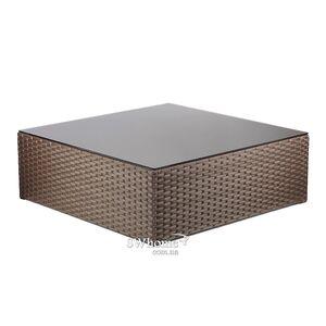 Стол из ротанга Pradex Оазис квадратный Темно-коричневый