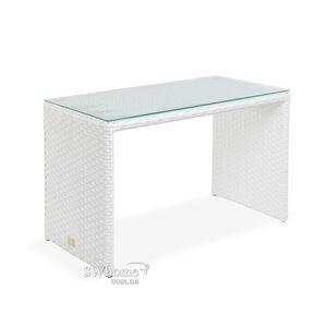 Стол из ротанга Pradex Оригами прямоугольный Белый