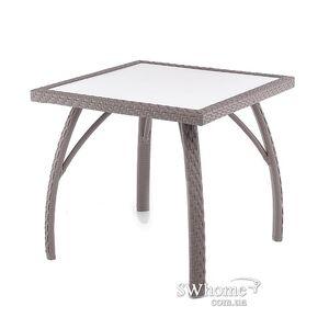 Стол из ротанга Pradex Палермо квадратный Темно-коричневый