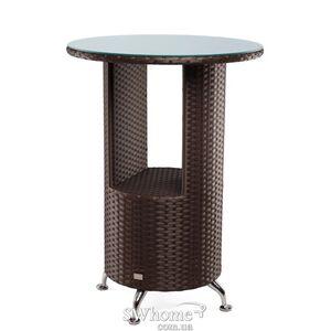 Стол из ротанга Pradex Барный круглый Темно-коричневый