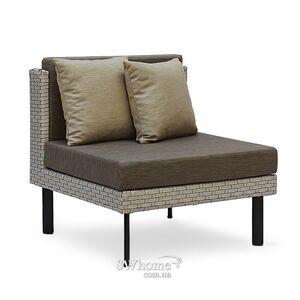 Кресло из ротанга Pradex Тетрис-М без подлокотников Серое