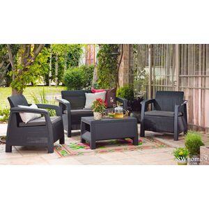 Комплект садовой мебели из ротанга Keter Bahamas Серый