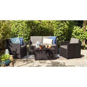 Комплект садовой мебели из ротанга Allibert Monaco set Серый