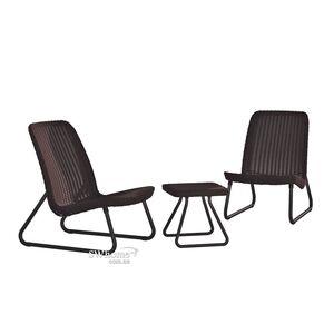 Комплект садовой мебели из ротанга Keter Rio patio set Коричневый