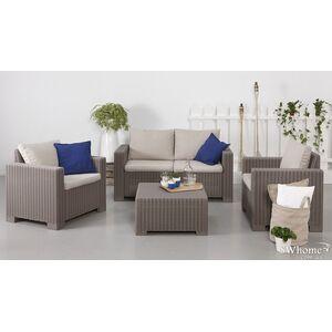 Комплект садовой мебели из ротанга Allibert California 2 Set Капучино