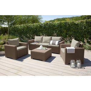 Комплект садовой мебели из ротанга Allibert California 3 Set Бежевый