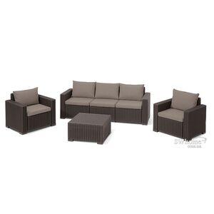 Комплект садовой мебели из ротанга Allibert California 3 Set Коричневый
