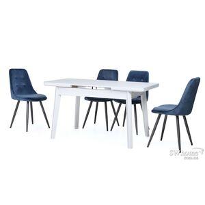 Стол раскладной обеденный Vetro Mebel TM-73 Матовый Белый